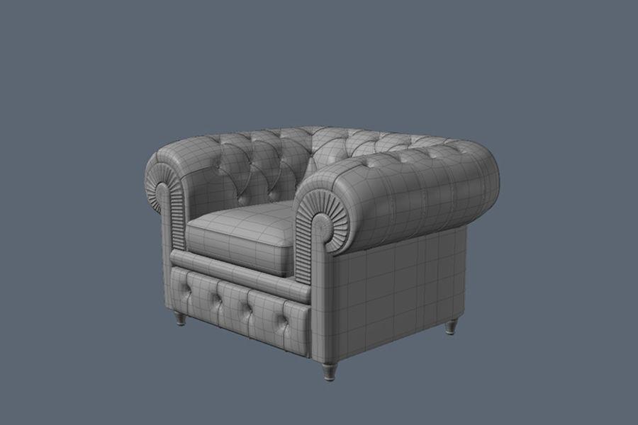 Poltrona frau chester armchair 3d model 10 fbx max for Poltrona 3d