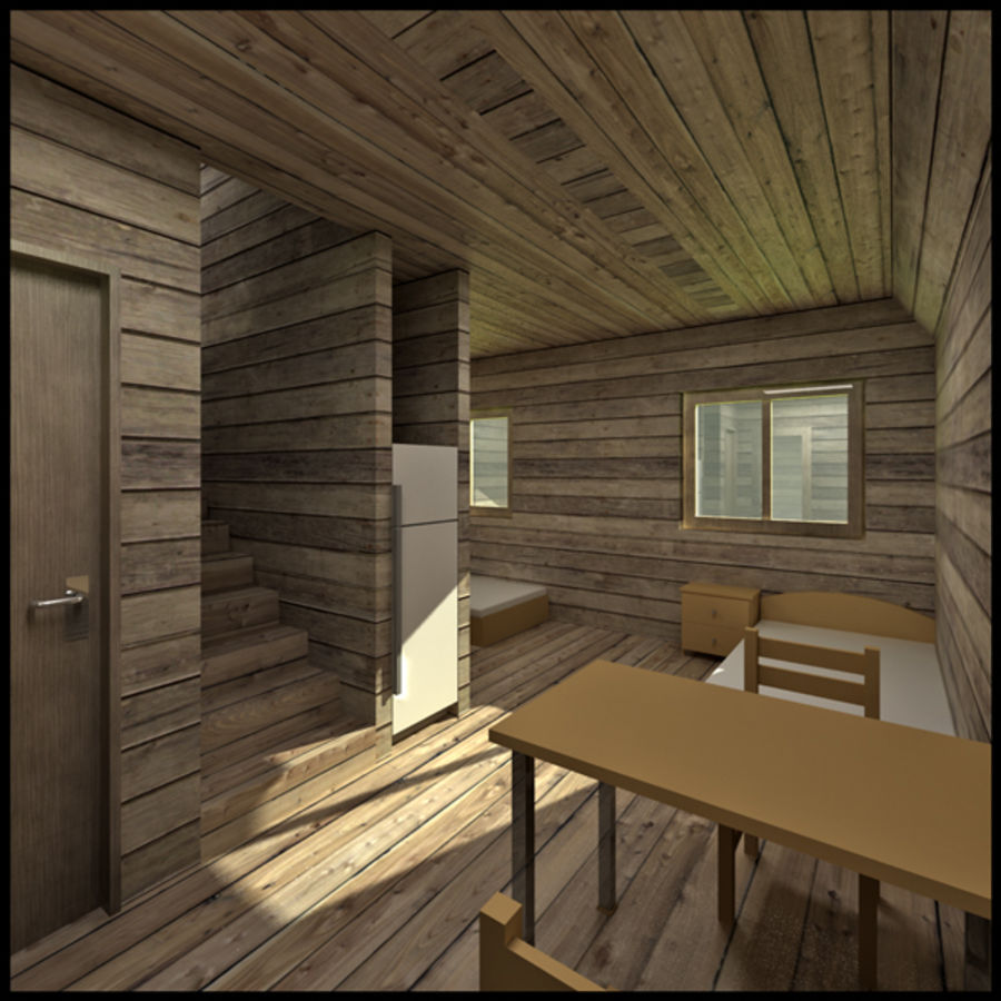Thatched House royalty-free 3d model - Preview no. 5