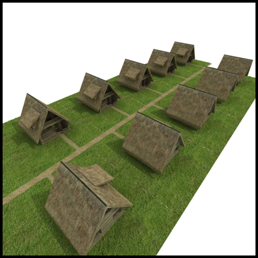 Thatched House royalty-free 3d model - Preview no. 2
