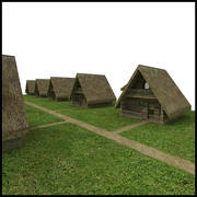 Thatched House 3d model