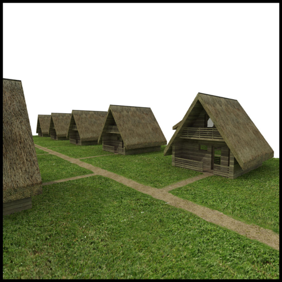 Thatched House royalty-free 3d model - Preview no. 1