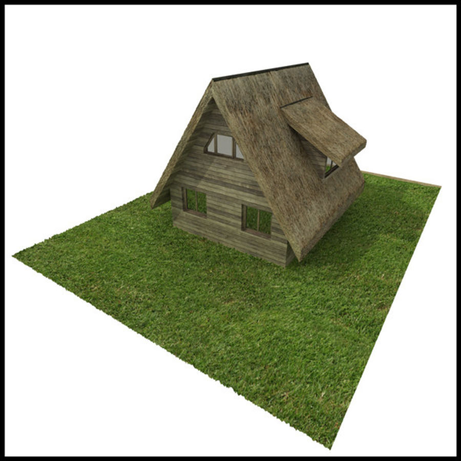 Thatched House royalty-free 3d model - Preview no. 4