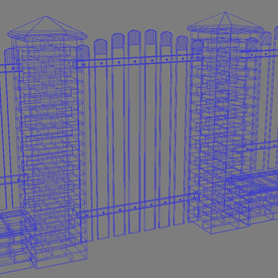 Cerca com portão royalty-free 3d model - Preview no. 10