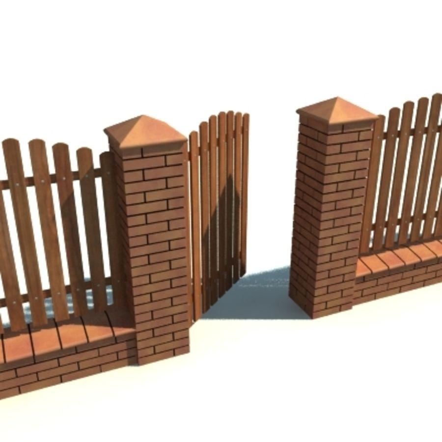 Cerca com portão royalty-free 3d model - Preview no. 5