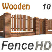 Fence with Gate 3d model