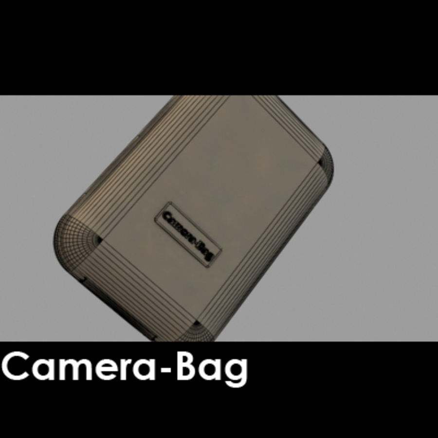 Camera Bag royalty-free 3d model - Preview no. 5