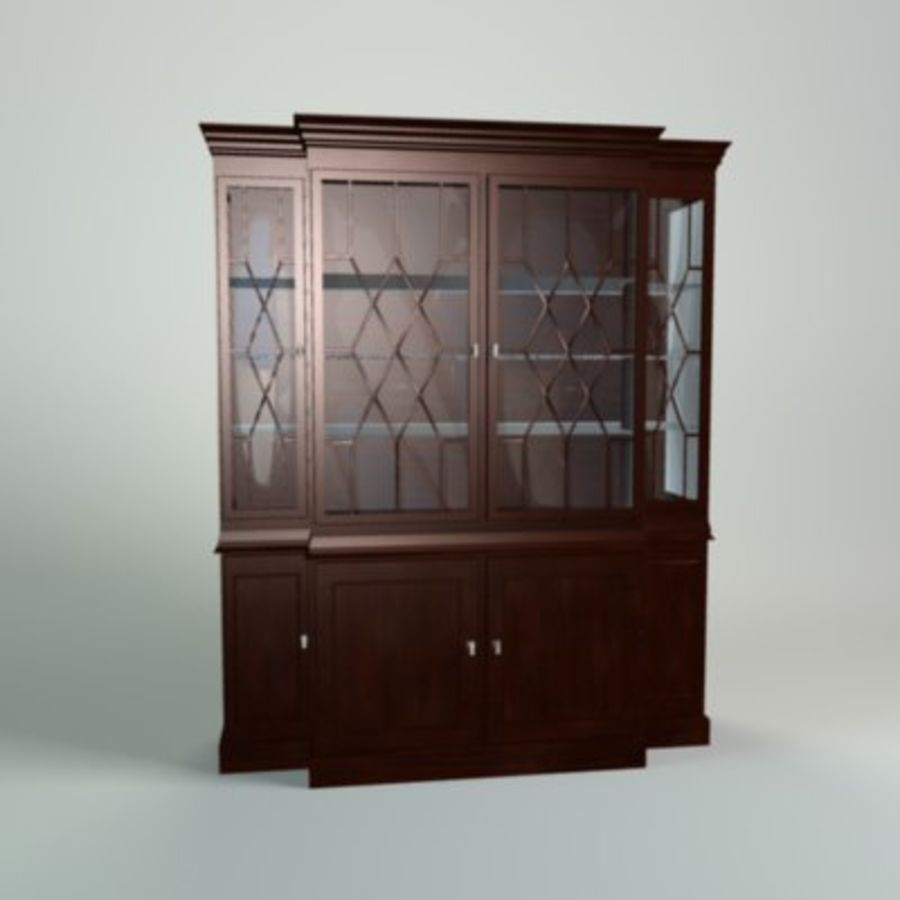 Antique China Cabinet royalty-free 3d model - Preview no. 1