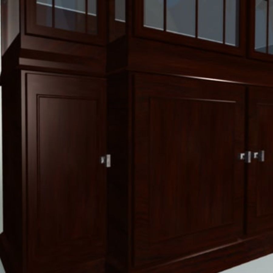 Antique China Cabinet royalty-free 3d model - Preview no. 6