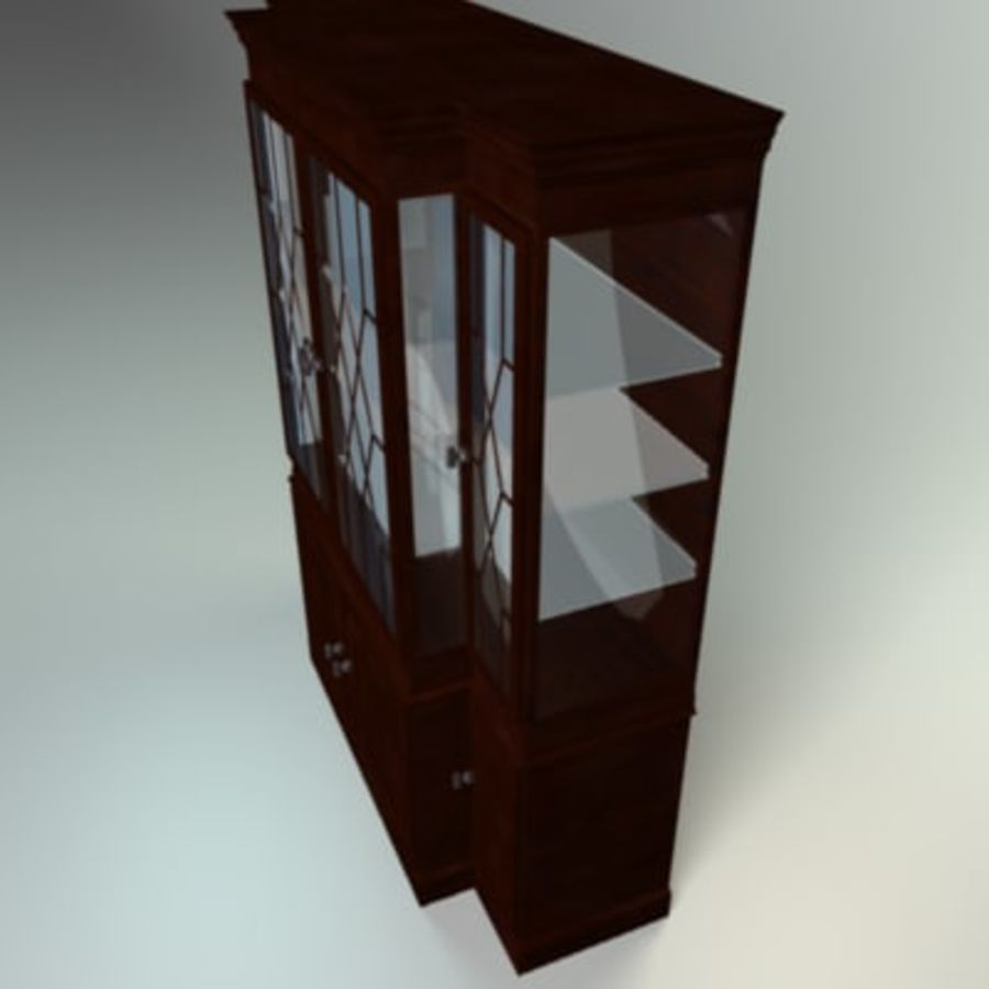 Antique China Cabinet royalty-free 3d model - Preview no. 8