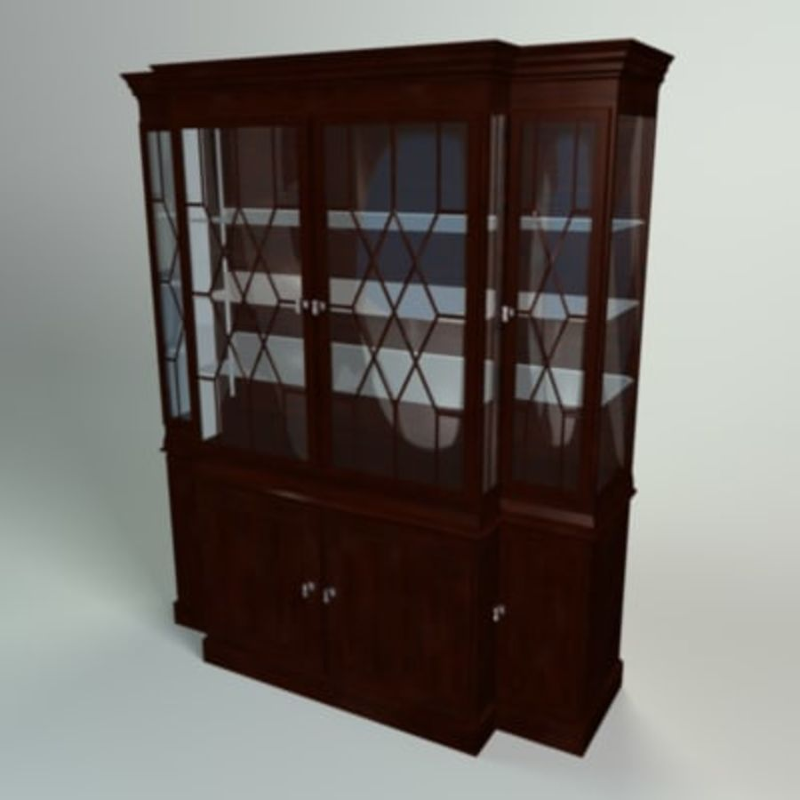 Antique China Cabinet royalty-free 3d model - Preview no. 3