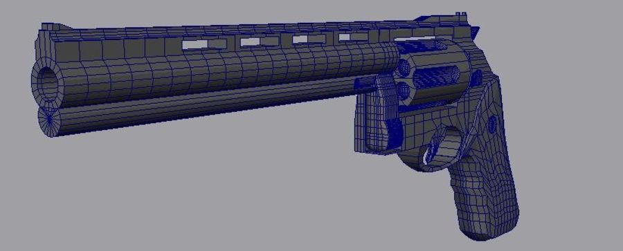 .44 Magnum royalty-free 3d model - Preview no. 3
