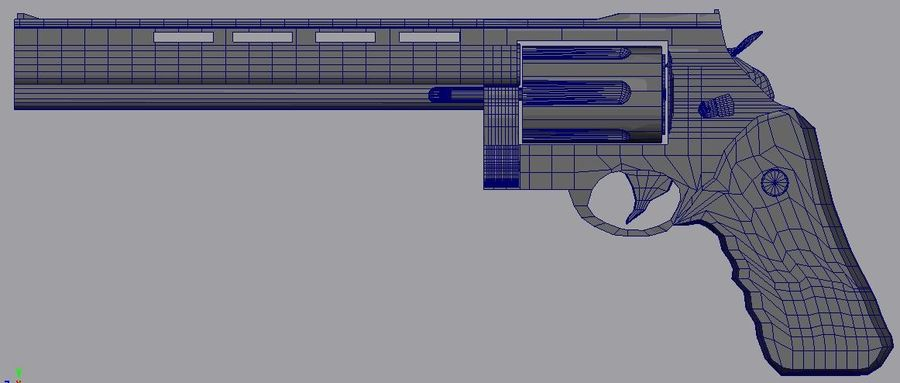 .44 Magnum royalty-free 3d model - Preview no. 1