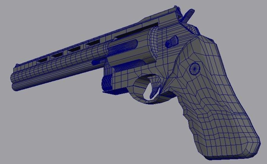 .44 Magnum royalty-free 3d model - Preview no. 4