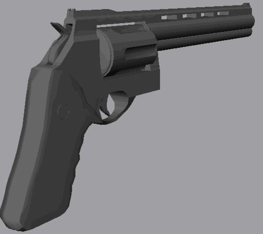 .44 Magnum royalty-free 3d model - Preview no. 7