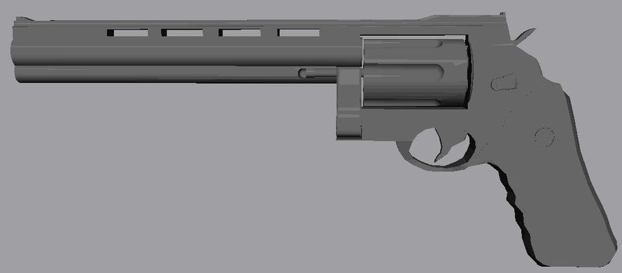 .44 Magnum royalty-free 3d model - Preview no. 5