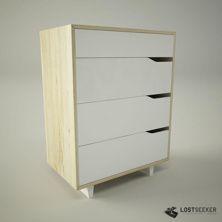 Ikea Mandal Kommode Mit 4 Schubladen 3d Modell 6 Oth Obj Max