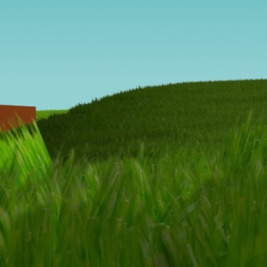 3D Grass royalty-free 3d model - Preview no. 7