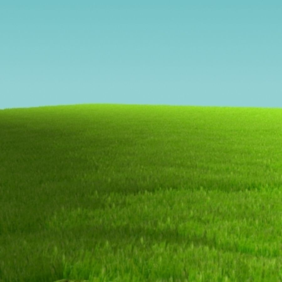 3D Grass royalty-free 3d model - Preview no. 3