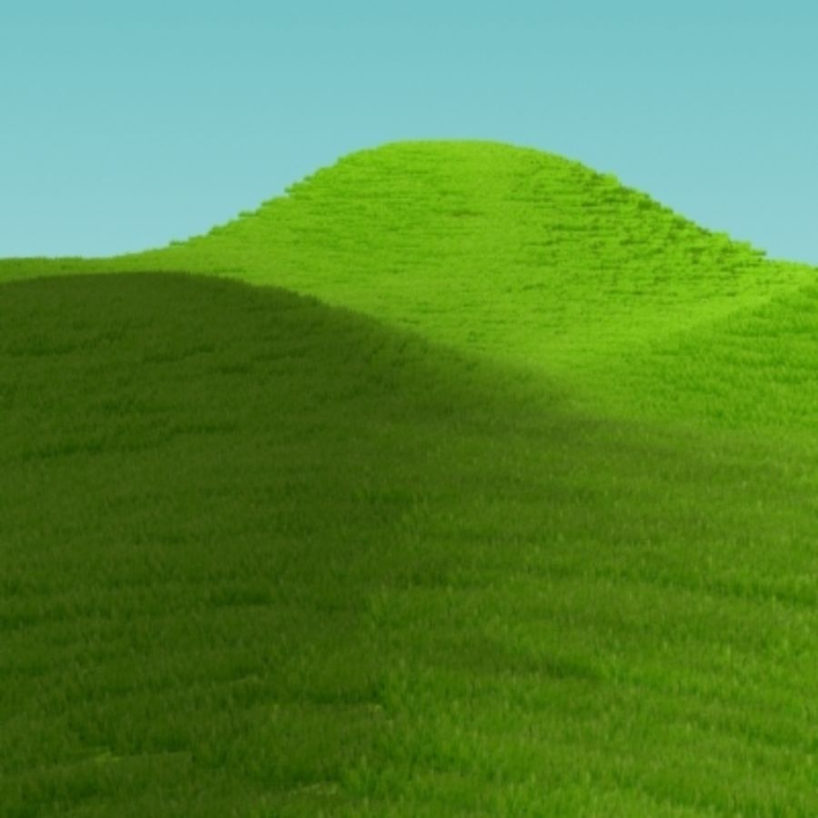 3D Grass royalty-free 3d model - Preview no. 9