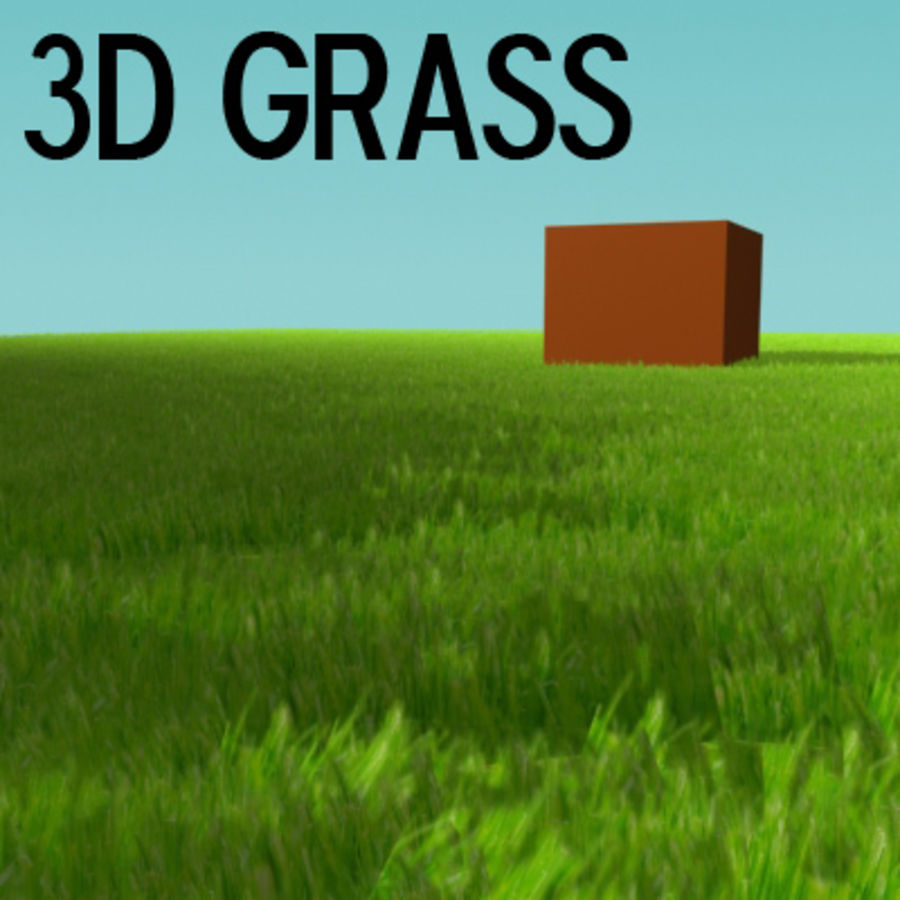 3D Grass royalty-free 3d model - Preview no. 1