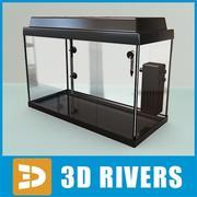 Zwart leeg glazen aquarium door 3DRivers 3d model
