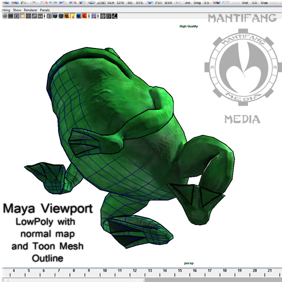 Frog royalty-free 3d model - Preview no. 8