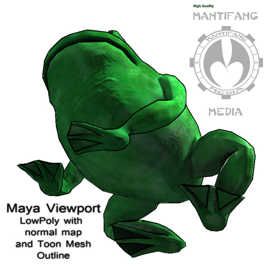 Frog royalty-free 3d model - Preview no. 7
