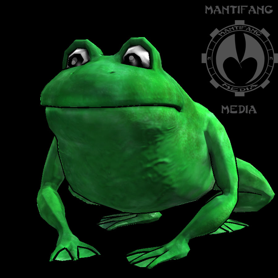 Frog royalty-free 3d model - Preview no. 2