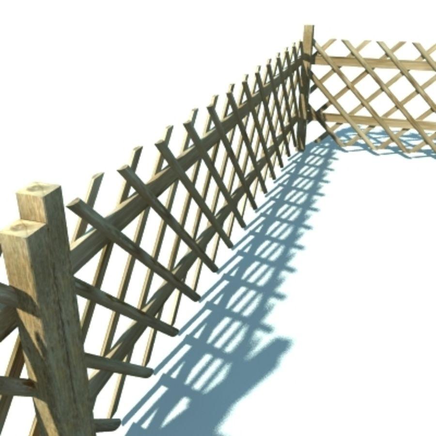 Drewniany płot rolniczy royalty-free 3d model - Preview no. 3