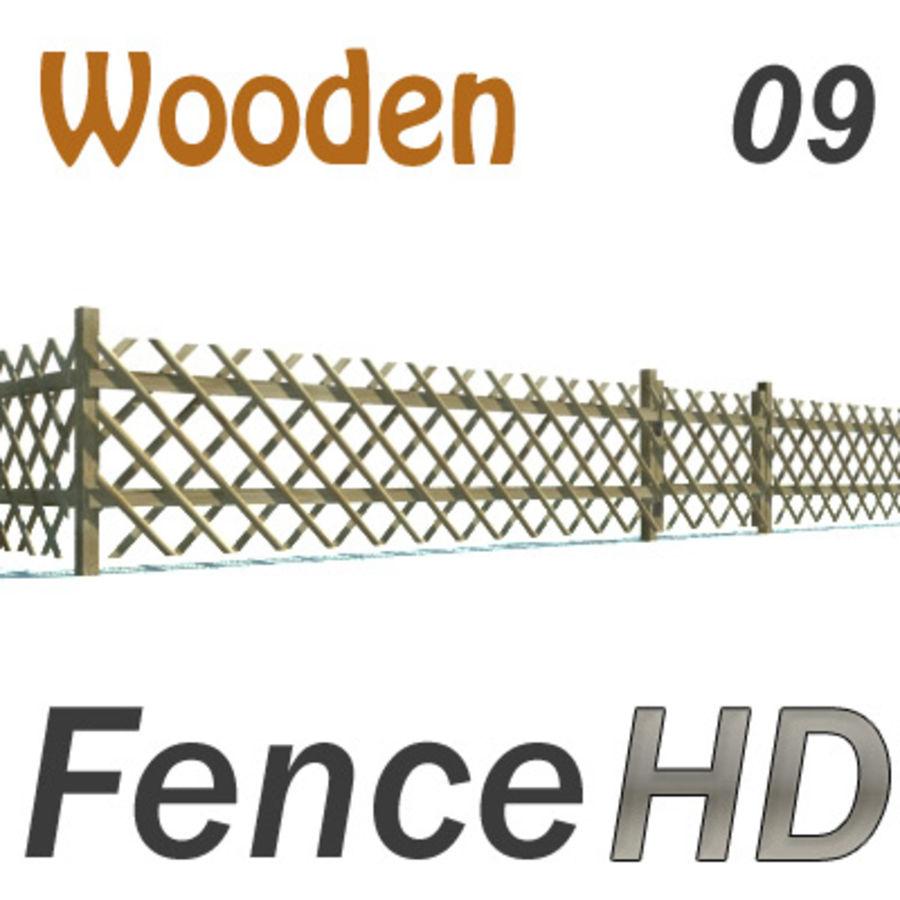 Drewniany płot rolniczy royalty-free 3d model - Preview no. 1