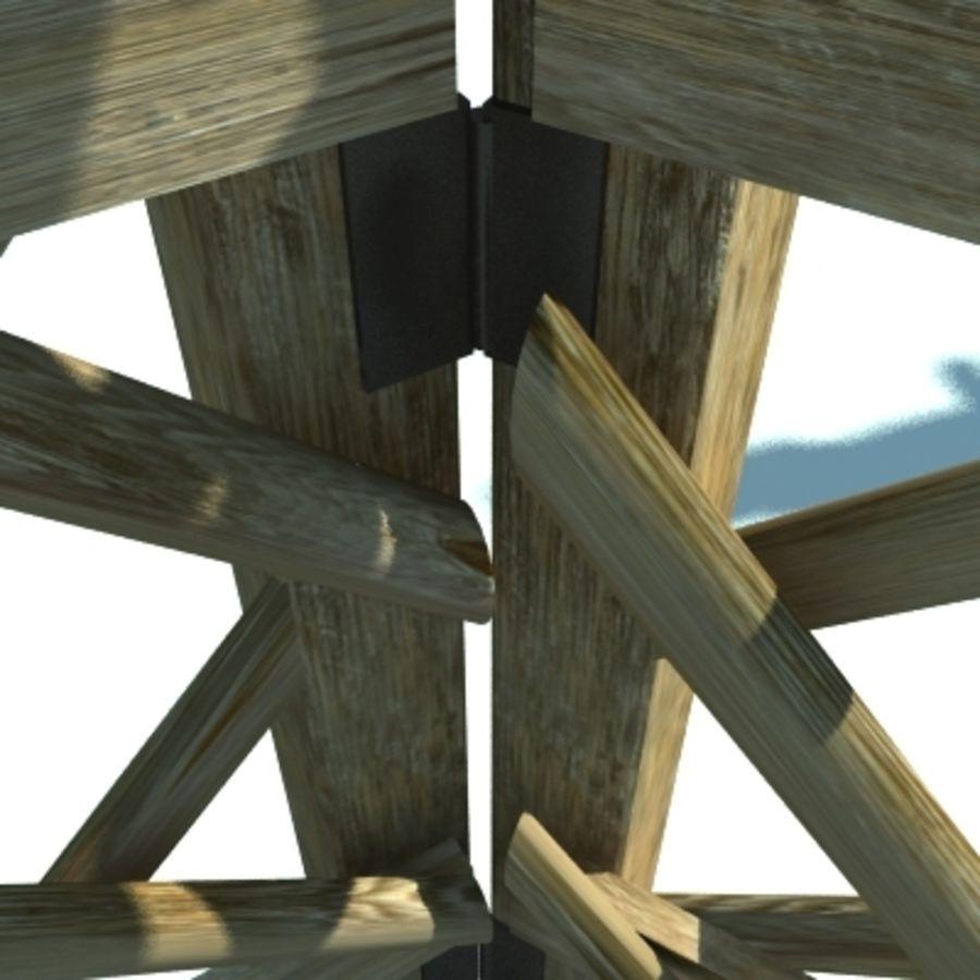 Drewniany płot rolniczy royalty-free 3d model - Preview no. 5