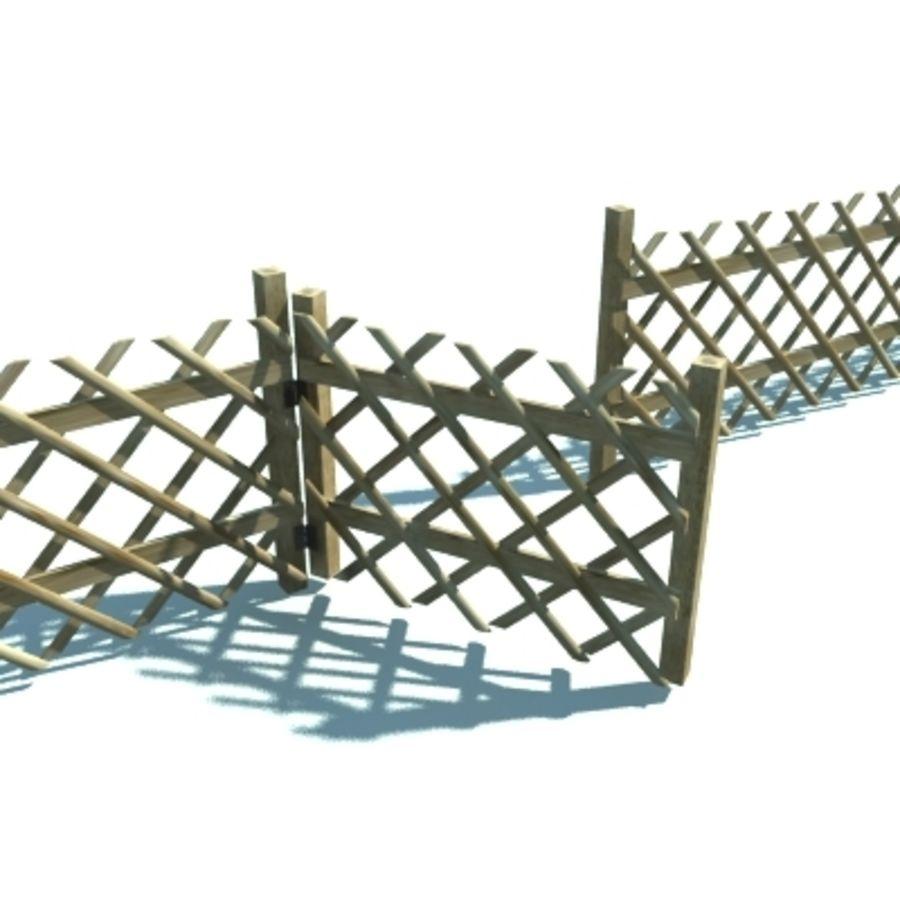 Drewniany płot rolniczy royalty-free 3d model - Preview no. 4