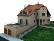 Haus mit Garage 3d model