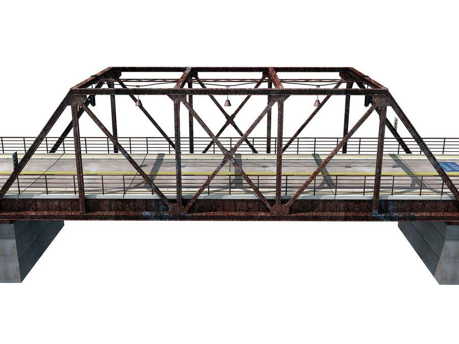 Steel Bridge royalty-free 3d model - Preview no. 2