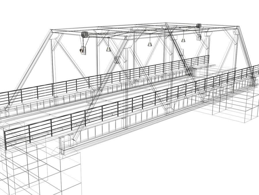 Steel Bridge royalty-free 3d model - Preview no. 6