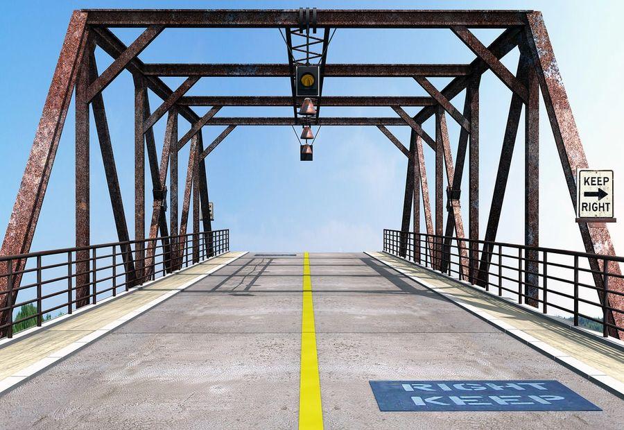 Steel Bridge royalty-free 3d model - Preview no. 4