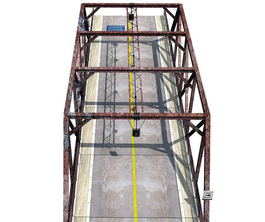Steel Bridge royalty-free 3d model - Preview no. 3