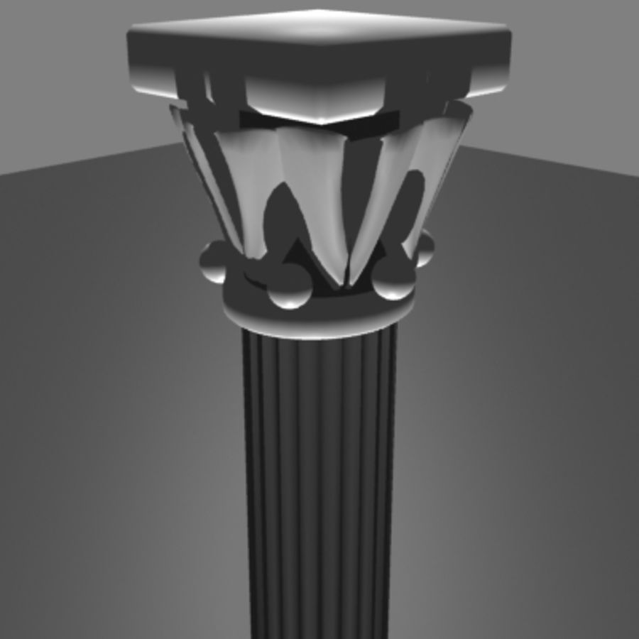 Columna antigua royalty-free modelo 3d - Preview no. 4