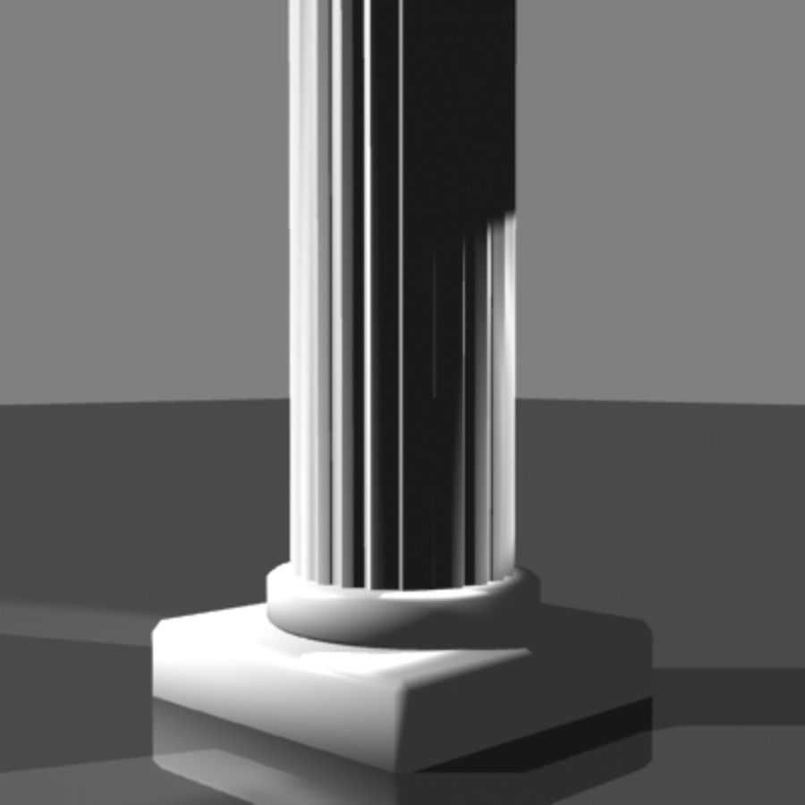 Columna antigua royalty-free modelo 3d - Preview no. 5