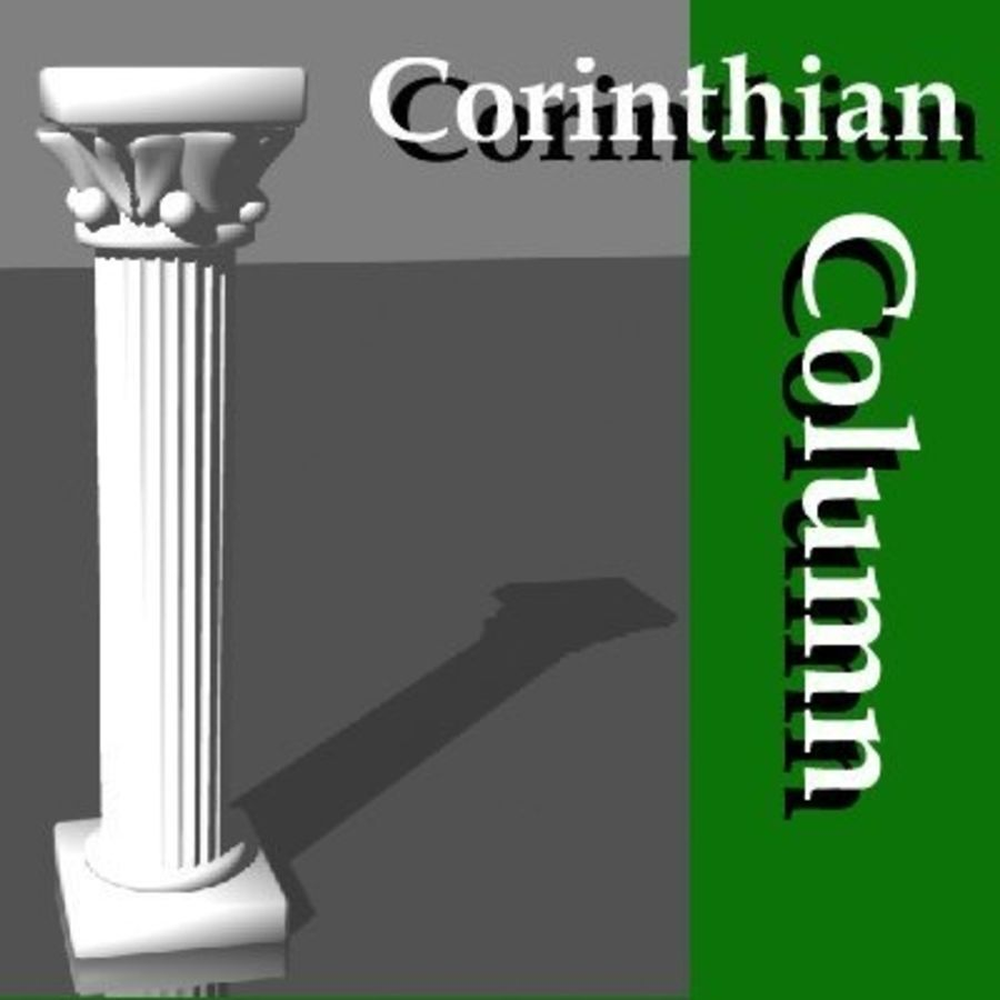 Columna antigua royalty-free modelo 3d - Preview no. 1