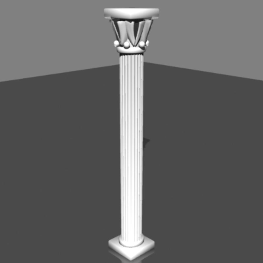 Columna antigua royalty-free modelo 3d - Preview no. 2