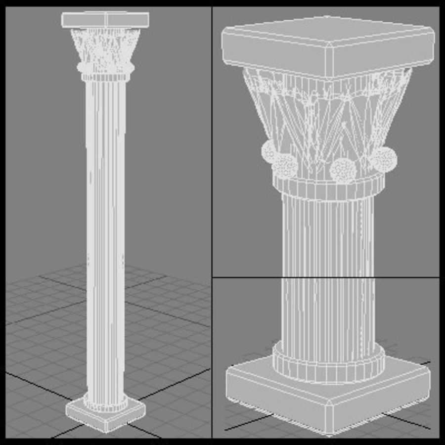 Columna antigua royalty-free modelo 3d - Preview no. 6