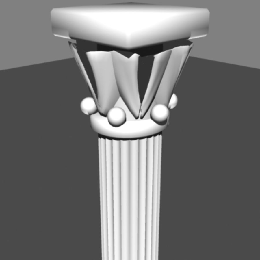 Columna antigua royalty-free modelo 3d - Preview no. 3
