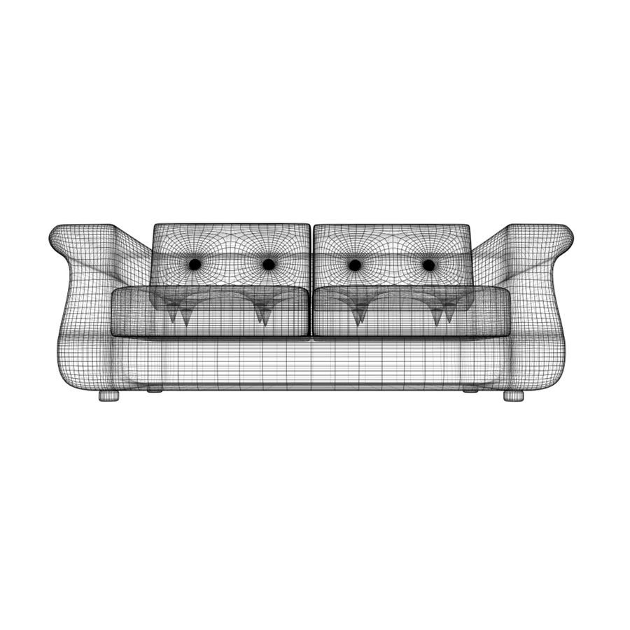 2 sits soffa royalty-free 3d model - Preview no. 6