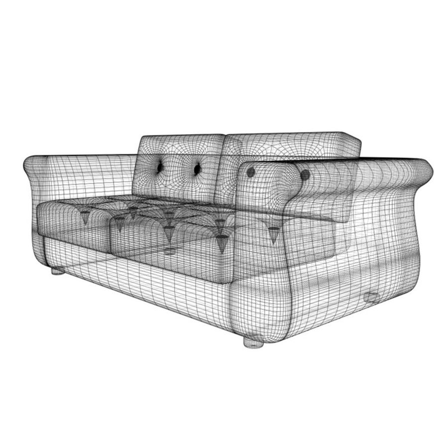 2 sits soffa royalty-free 3d model - Preview no. 7
