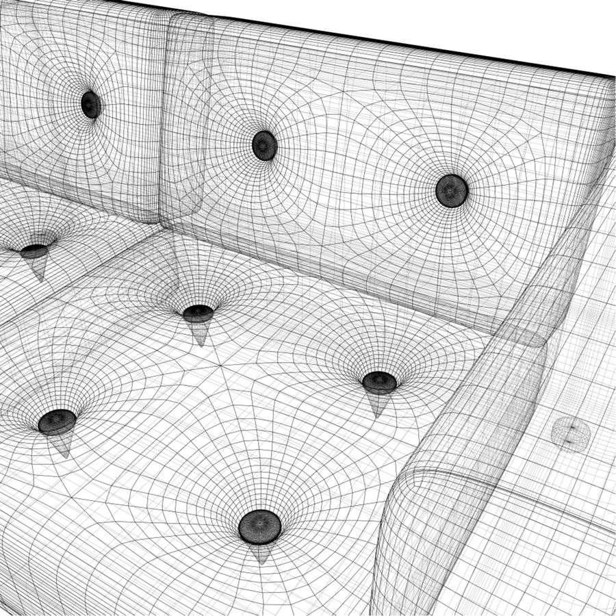 2 sits soffa royalty-free 3d model - Preview no. 8