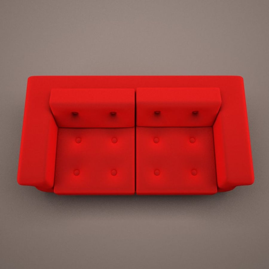 2 sits soffa royalty-free 3d model - Preview no. 3