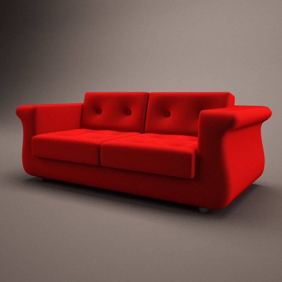 2 sits soffa royalty-free 3d model - Preview no. 1