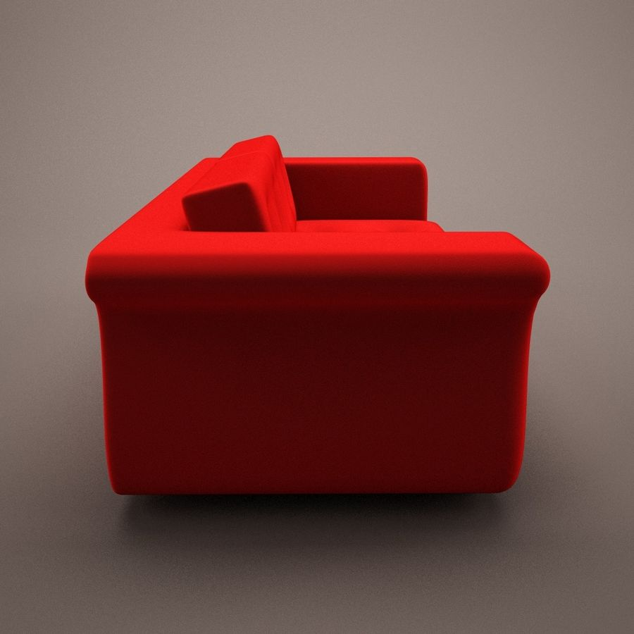 2 sits soffa royalty-free 3d model - Preview no. 4