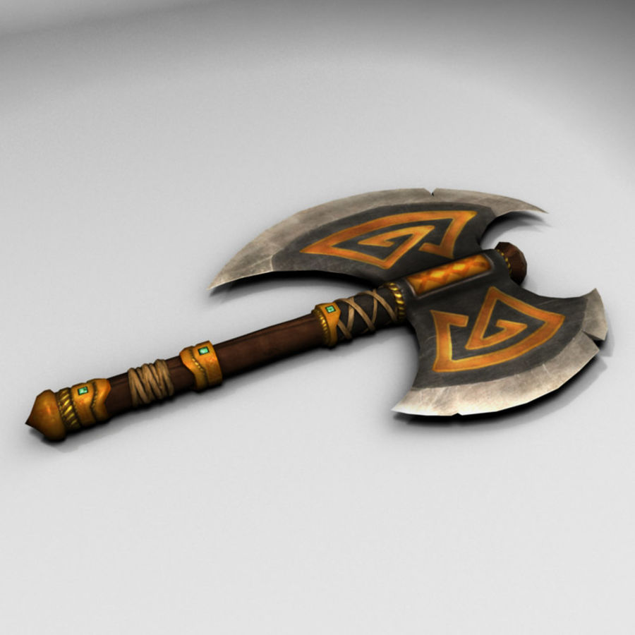 Battle Axe (Short Handle) royalty-free 3d model - Preview no. 1